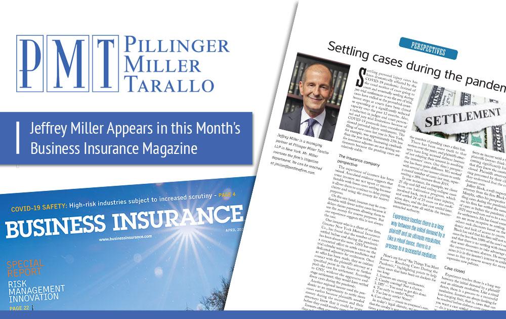 Jeff Miller Appears in Business Insurance