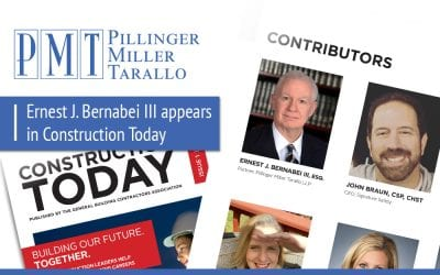 Ernest J. Bernabei III appears in this Month's Construction Today