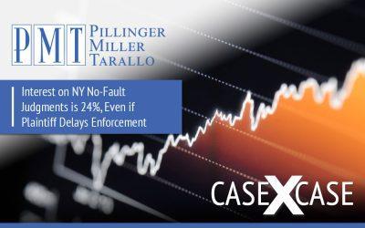 Interest on NY No-Fault Judgments Is 24%, Even if Plaintiff Delays Enforcement