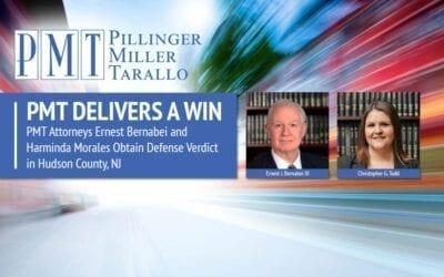 PMT Attorneys Ernest Bernabei and Harminda Morales Obtain Defense Verdict in Hudson County, NJ