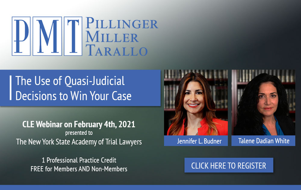 The Use of Quasi-Judicial Decisions to Win Your Case -Event 4